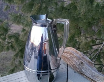 Chrome Coffee Carafe Server with Lucite Handle American Thermos Bottle Company