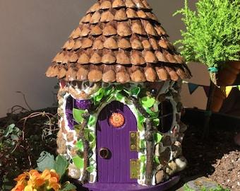 Fairy House/ Fairy Garden/ Miniature House/ Swirl Cottage