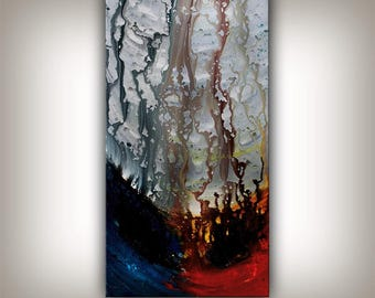 Original ABSTRACT PAINTING red gift Abstract Paintings Modern Art sale LARGE contemporary modern art abstract art for sale fine art Nandita