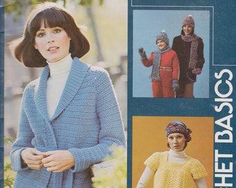 Crocheting Pattern Booklet Crochet Basics 8 patterns for beginners Leisure Arts Leaflet 66 Vintage 1976