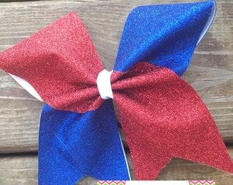 Full glitter RED WHITE & BLUE bow