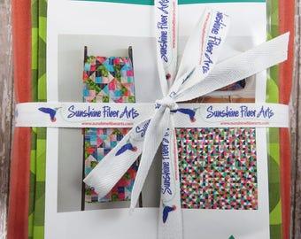 Court Jester Quilt Pattern Fabric Kit - Moda - V and Co - Vanessa Christenson - VC 1243 - Spectrum Ombré Fabric