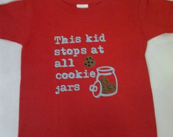 This Kid Stops at All Cookie Jars T-shirt