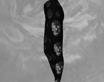 Skull Print Leggings Skeleton Tights Skull Workout Leggings Skeleton Print Leggings Skull Workout Clothes Hot Leggings Skin Tight Leggings