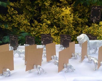 Animal Magnet safari place card holder and wedding favour bag included with each animal X10
