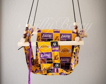 Lakers Baby  Fabric Swing. Indoor / Outdoor Baby Todler Swing.Baby Swing Chair. Toddler Indoor Outdoor Canvas