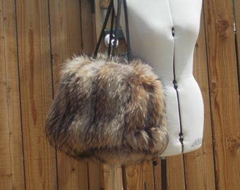 Real Huge and Fluffy Coyote Fur Bag  SALE was 199