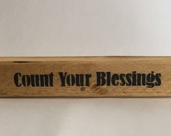Count Your Blessings shelf sitter