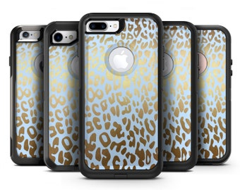 Gold Flaked Animal Light Blue 2 - OtterBox Case Skin-Kit for the iPhone, Galaxy & More