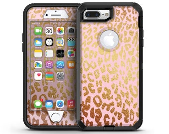 Pink Gold Flaked Animal v3 - OtterBox Case Skin-Kit for the iPhone, Galaxy & More