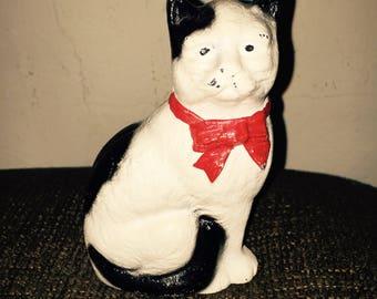 Vntg HUBLEY? CAST IRON Cat Still Bank