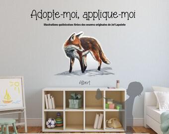 Fox - Wall sticker - Interior decoration