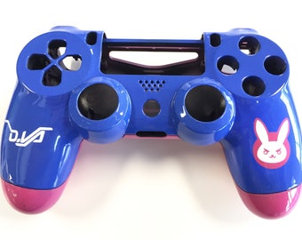 Custom Painted Overwatch Themed D.Va Playstation 4 PS4 Controller SHELL