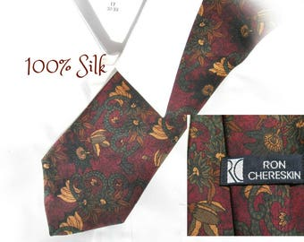 burgundy tie - men's silk tie - men's neck tie -men's designer tie -men's suit tie - men's accessories - gift for him - # 163 A