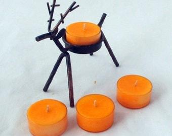 Reindeer tealight holder, christmas candle, tea light candles, soy candle, holiday candles, scented soy candles, unique candles, tea lights