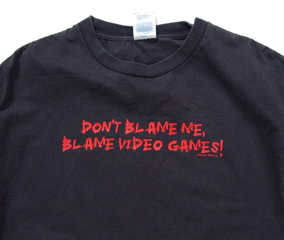 SALE! Don't Blame Me Blame Video Games funny unisex t-shirt / size M