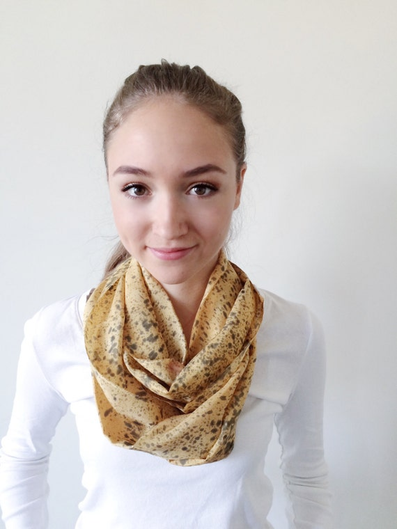 Yellow Scarf-Black Scarf-Infinity Scarf-Silk-Scarf-Scarves-Scarves for Fall-Scarves for Summer--Scarves for Spring-Holiday Gift-Gift for My