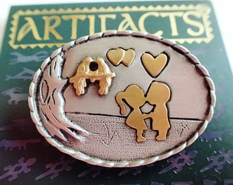 "JJ Jonette "" Love Is In The Air "" Valentines Day Brooch Pin"
