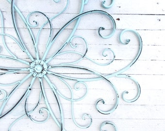 Metal Wall Decor-Wall Art-Apartment Living-DIY Projects-Boys Room-Girls Room-Western Decor-American Decor -Shabby White Cottage -True White