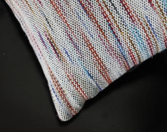 Colorful Pillow, Pillow Cover, Rainbow Colored Pillow, Handwoven Cover, Boho Style Decor, Kilim Pillow, Colorful Accent Pillow, Weaving