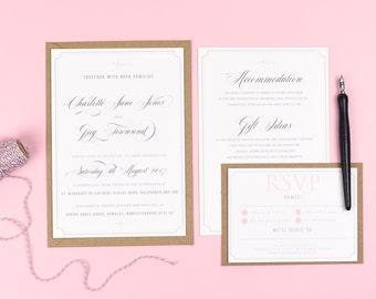wedding invitation frame | etsy uk, Wedding invitations