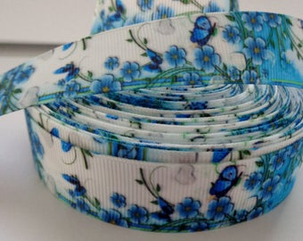 7/8'' -  22 mm Butterfly Grosgrain Ribbon