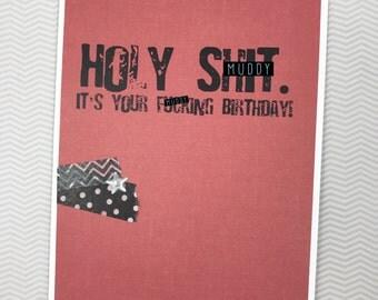 Holy Sh*t birthday card