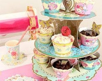 Tea party 3 tier cake stand