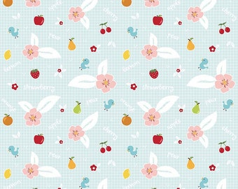 Riley Blake- Sweet Orchard- Aqua, Fabric by the Yard