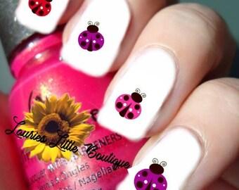 120 Ladybug Nail Art Decals Mix  40 EACH