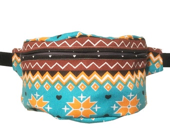 Aztec BUM BAG FANNY pack, Hands free Belt Bag, Hip Bag, Belt Pouch, Belt Bag