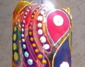glass bottle art wine bottle wind chime