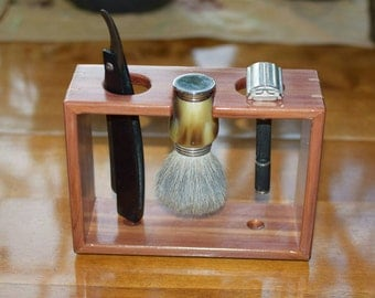 Red Cedar Razor and Brush Shave Stand