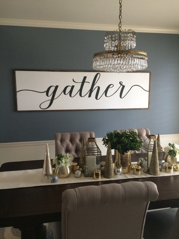 Sign With Quote Gather Distressed Wood In Black And