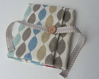 Crochet Hook Storage Roll/Retro Grey