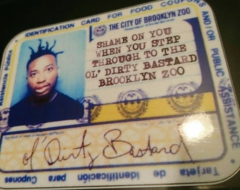 Odb Brooklyn Zoo Wu-Tang Clan Vinyl Sticker hip hop decal Method Man ghostface gza 36 chambers ol' dirty bastard raekwon return to the rza