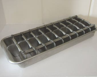 metal ice cube tray etsy. Black Bedroom Furniture Sets. Home Design Ideas