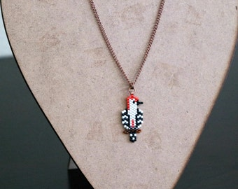 Red Bellied Woodpecker Necklace, Bird Jewelry, Nature Lover Necklace, Gift For Bird Lover