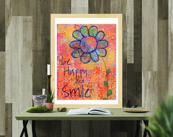 Printable Download - Be Happy