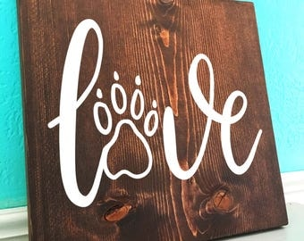 Puppy Love | Hand Lettered Wooden Sign
