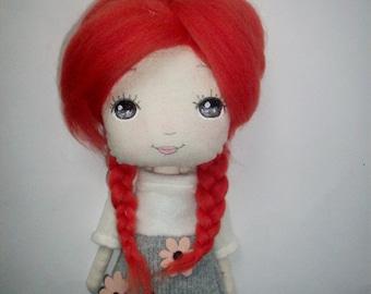 cloth doll, collectible doll,nursery decor