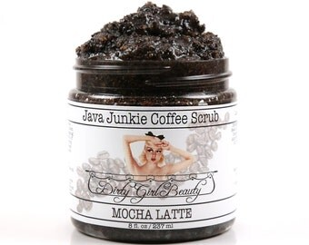 Java Junkie Coffee Scrub in MOCHA LATTE - 8 fl. oz. Jar - Vegan