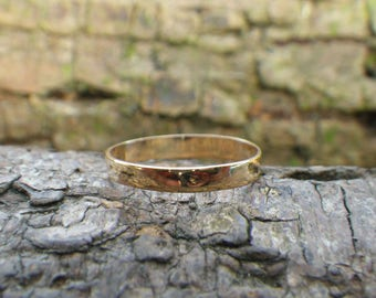 Vintage 9ct Yellow Gold Wedding Band Ring