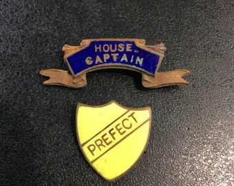 Prefect and house captain enamel pins