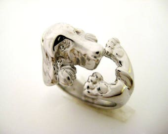 Dog 925 Silver ring
