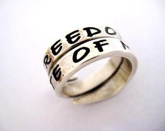 Band ring silver sentence