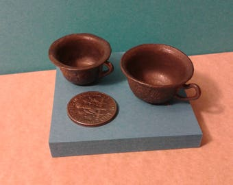 Two miniature chamber pots
