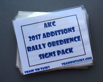Full Size AKC 2017 Rally Novice - Masters Expansion Set