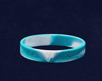 Teal & White Silicone Bracelet (RE-SILB-23)