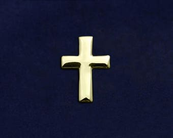 Gold Cross Tac Pin in a Bag (1 Pin - Retail) (RE-RP-06G)